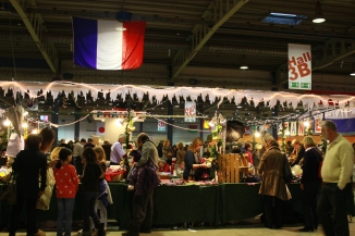 France set up a large stand.
