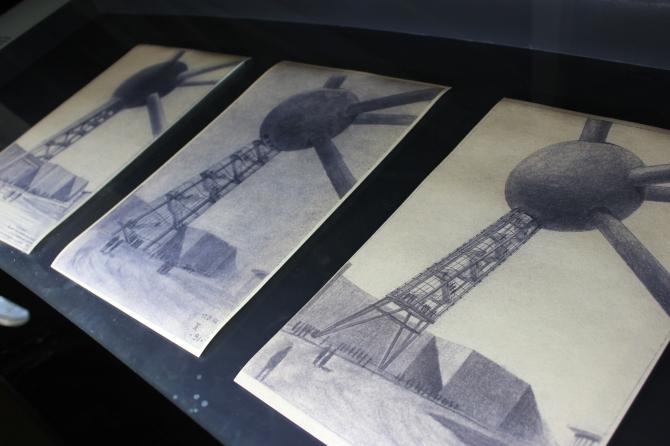 Initial sketches of  Atomium