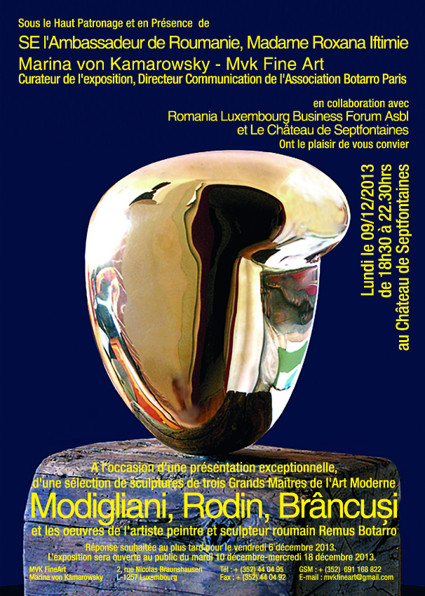 Modigliani, Rodin, Brancusi