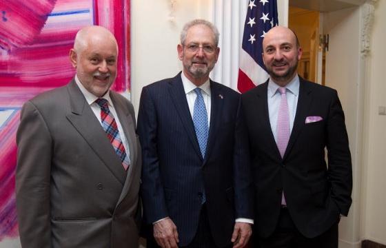 AMCHAM's CEO Paul Schonenberg, US Ambassador Robert Mandell and Economy Minister Etienne Schneider