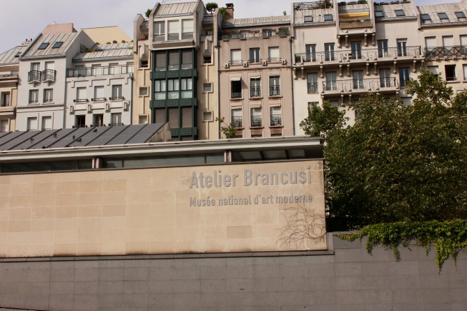 Outside the Brancusi museum in Paris (next to Centre Pompidou)
