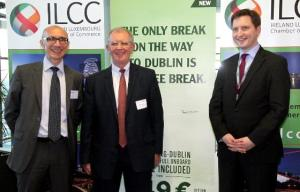 Eric Anselin (Luxair), Josep Huggard (ILCC) and Thomas Fischer (Luxair) Photo: Wort English