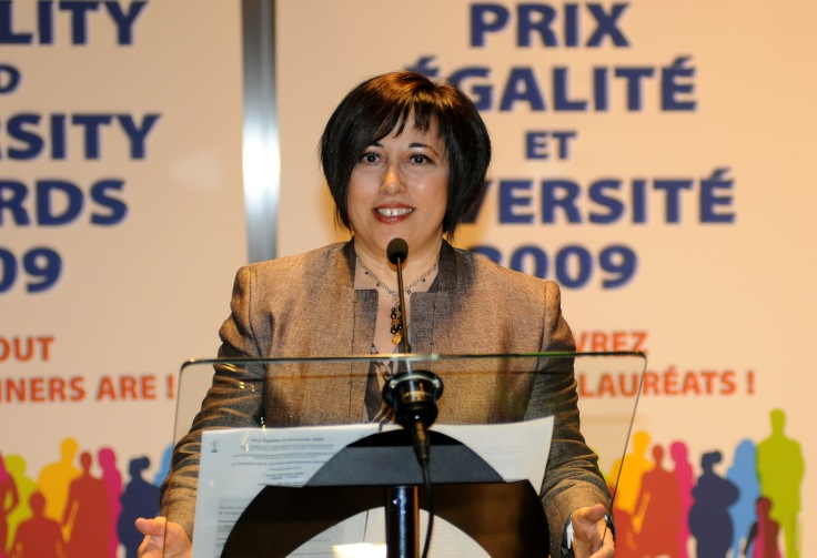 Rosa  Brignone on the International Women's Day in the European Parliament, during the Equality and Diversity Awards, in Strasbourg.