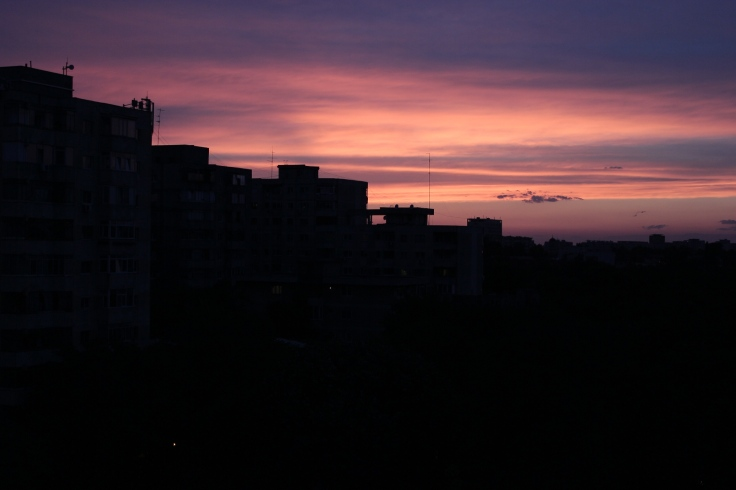 Summer sunset in Bucharest