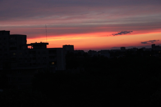 Summer sunset in Bucharest
