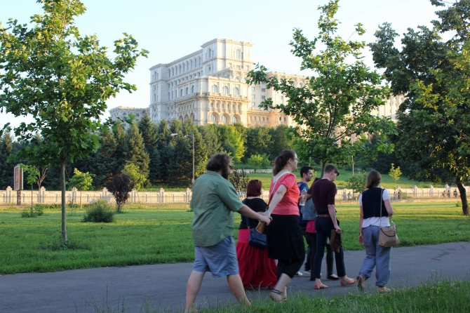 The Palace of the Parliament, seen from the Izvor Park