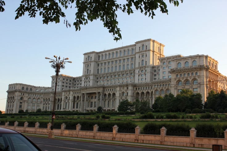 Front view of the Palace of the Parliament in Bucharest