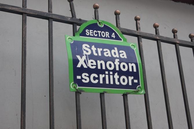 Strada Xenofon Bucuresti la scara