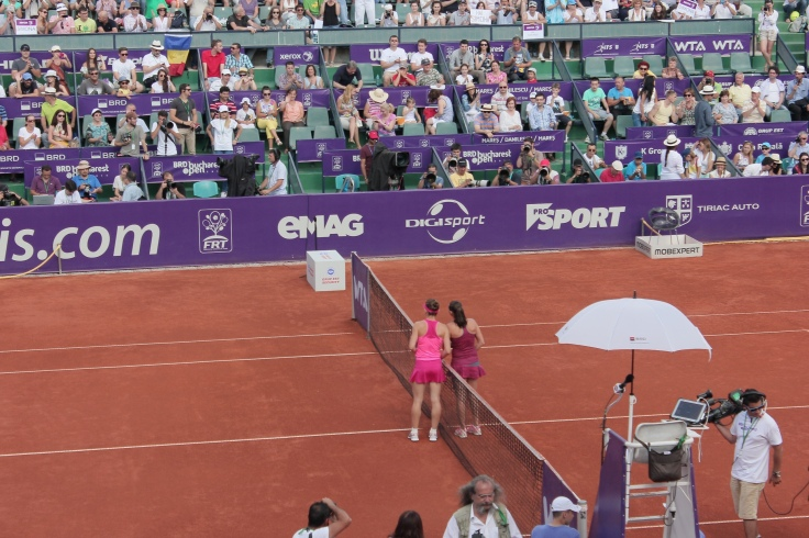Simona Halep and Roberta Vinci a played the finals at BRD Bucharest Open 2014