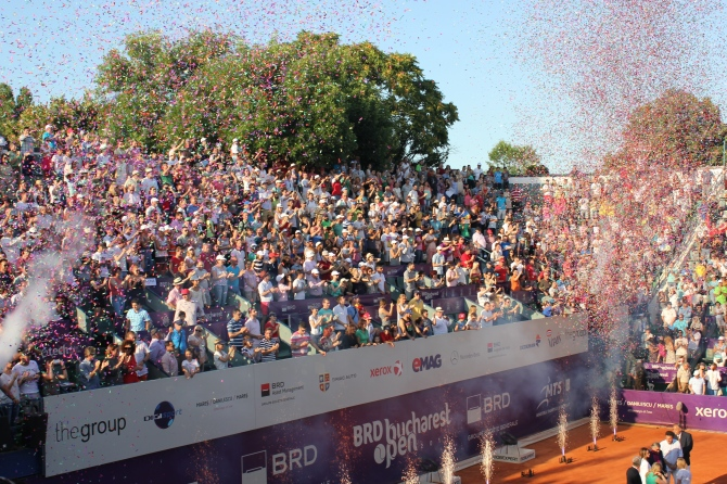 Finals ceremony at BRD Bucharest Open 2014