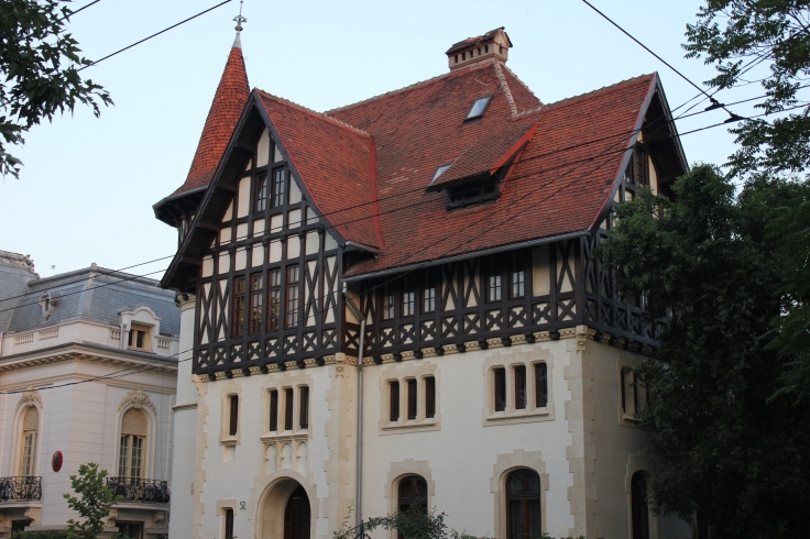 Vila Herescu on Dacia Boulevard in Bucharest's second district features romantic and neogothic architectural elements