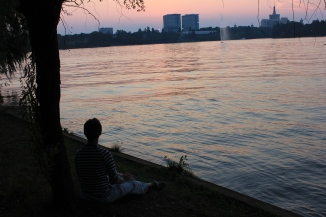 Sunset in Herastrau