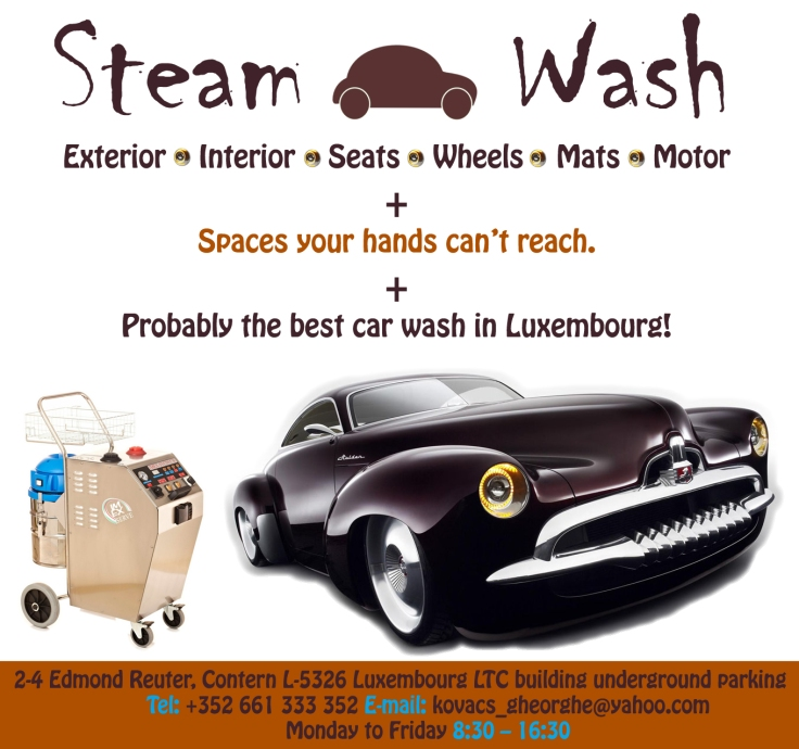 Steam Car Wash in Luxembourg