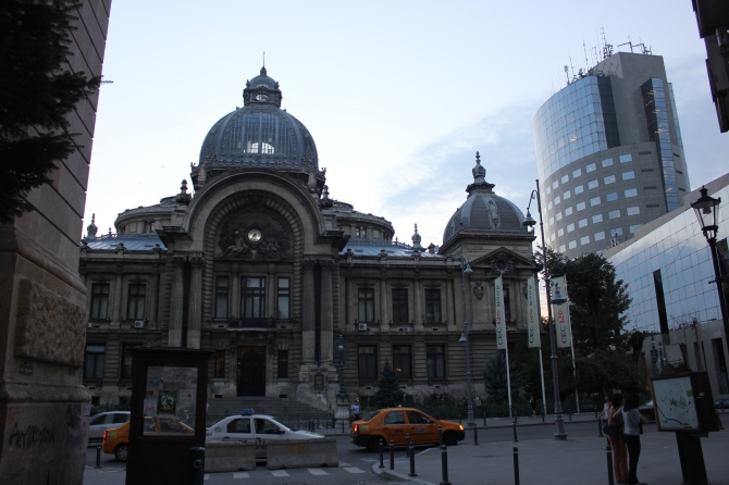 The CEC Palace lies on Calea Victoriei, in the heart of Bucharest
