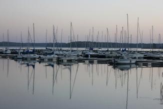Fishing boats on the Madine lake
