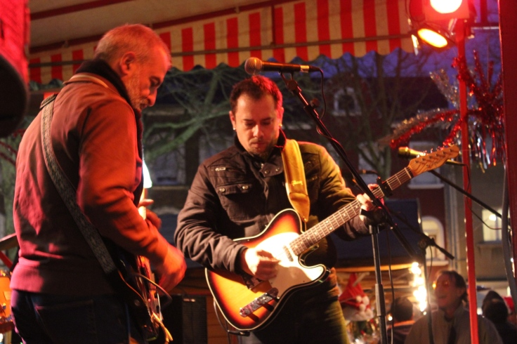Late Gouveia playing at the Christmas Market in Dudelange.