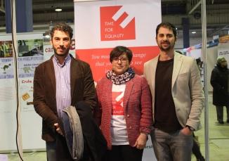 TFE Founder Rosa Brignone with Gabriele Del Grande and Giuseppe Catozzella in Luxembourg