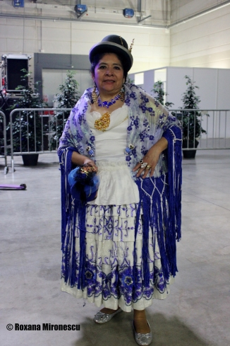 Bolivian woman at Migration Festival