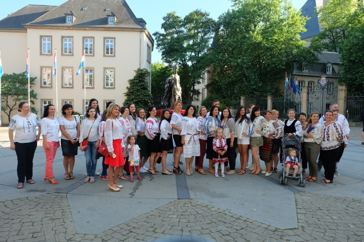 Last year's Romanian Blouse celebrations in Place Clairefontaine in Luxembourg-City  Photo: © Raluca Caranfil